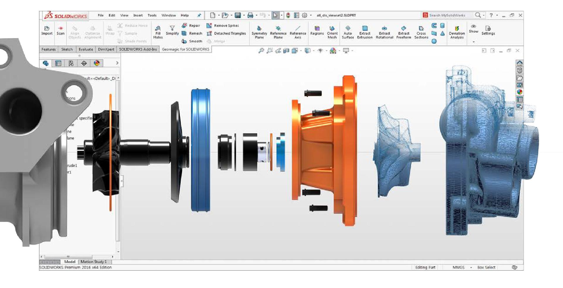 Modelamento de peças 3D